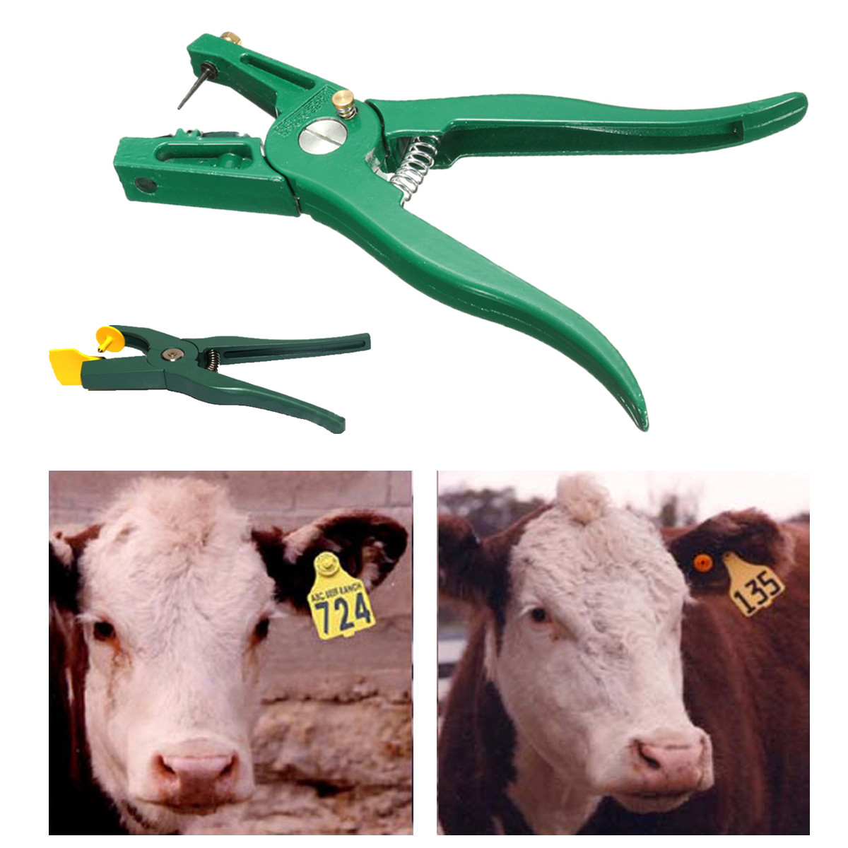 Livestock Cattle Goat Sheep Ear Tag Plier Animal Tags Lables Marking Plier Applicator