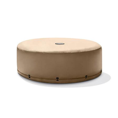Intex 4 Person Round Bubble Massage PureSpa Energy Efficient Spa Hot Tub Cover