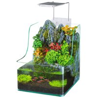 Penn Plax AquaTerrium Planting Fish Tank - Grow Plants and Fish in One Environment