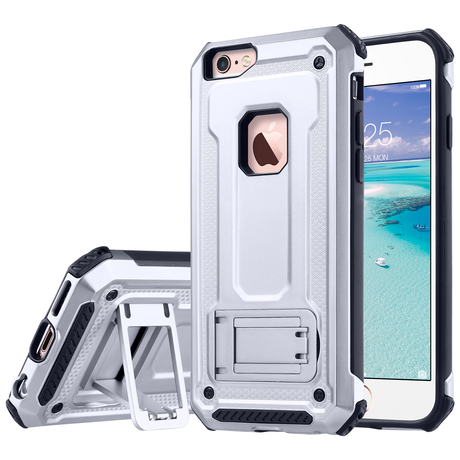 iPhone 6 Case, iPhone 6s Case, ULAK Hybrid Shock Absorbing TPU Hard Cover with Built-in Stand for Apple iPhone 6 & 6S 4.7 inch