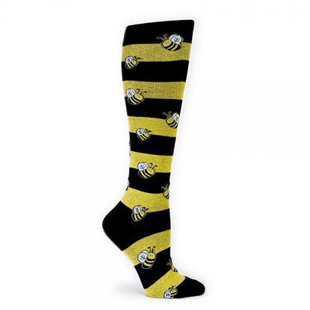 5a4818660 Sock It to Me - Bumble Bees Black and Yellow Striped Knee High Socks -  Walmart.com