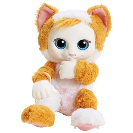 Animal Babies 9 Inch Plush With Nurturing Accessory Baby Calico Kitten