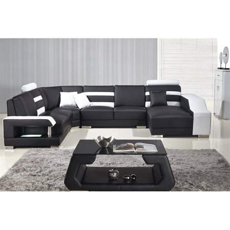 Orren Ellis Terese Leather Modular Sectional