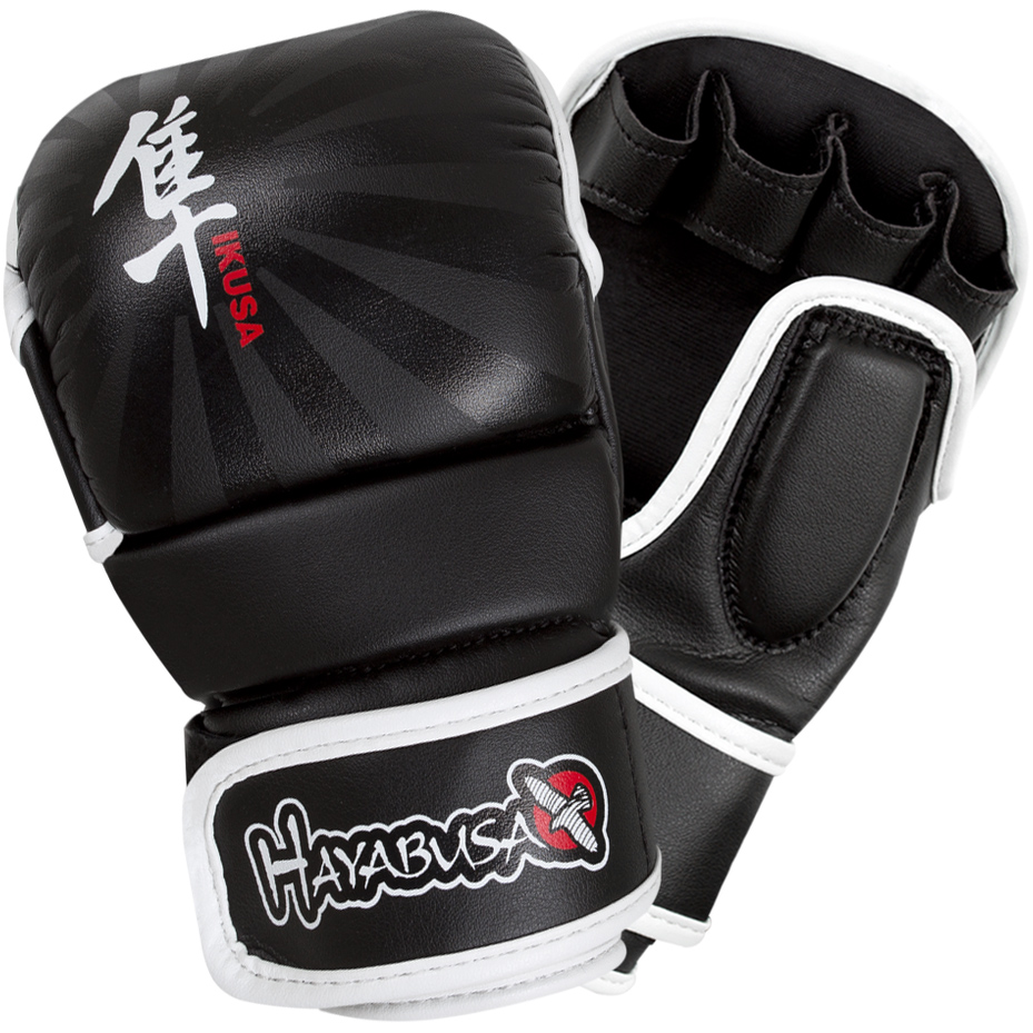 Hayabusa Ikusa 7 oz. Hybrid MMA Gloves - Black