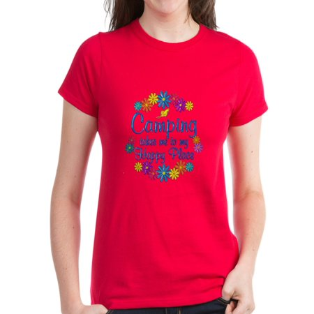 70e42821428b3f CafePress - Camping Happy Place - Women s Dark T-Shirt - Walmart.com