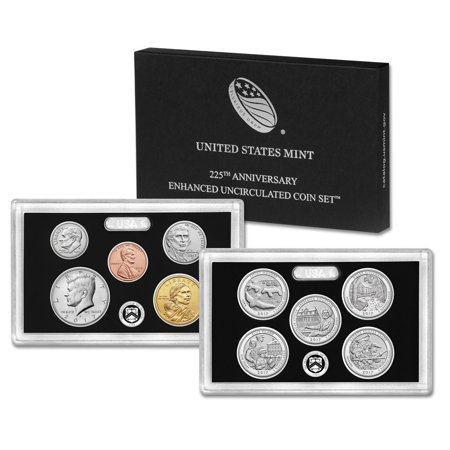 225th Anniversary of the U.S. Mint Enhanced Uncirculated Limited Edition Coin Set Bronze Medal Us Mint