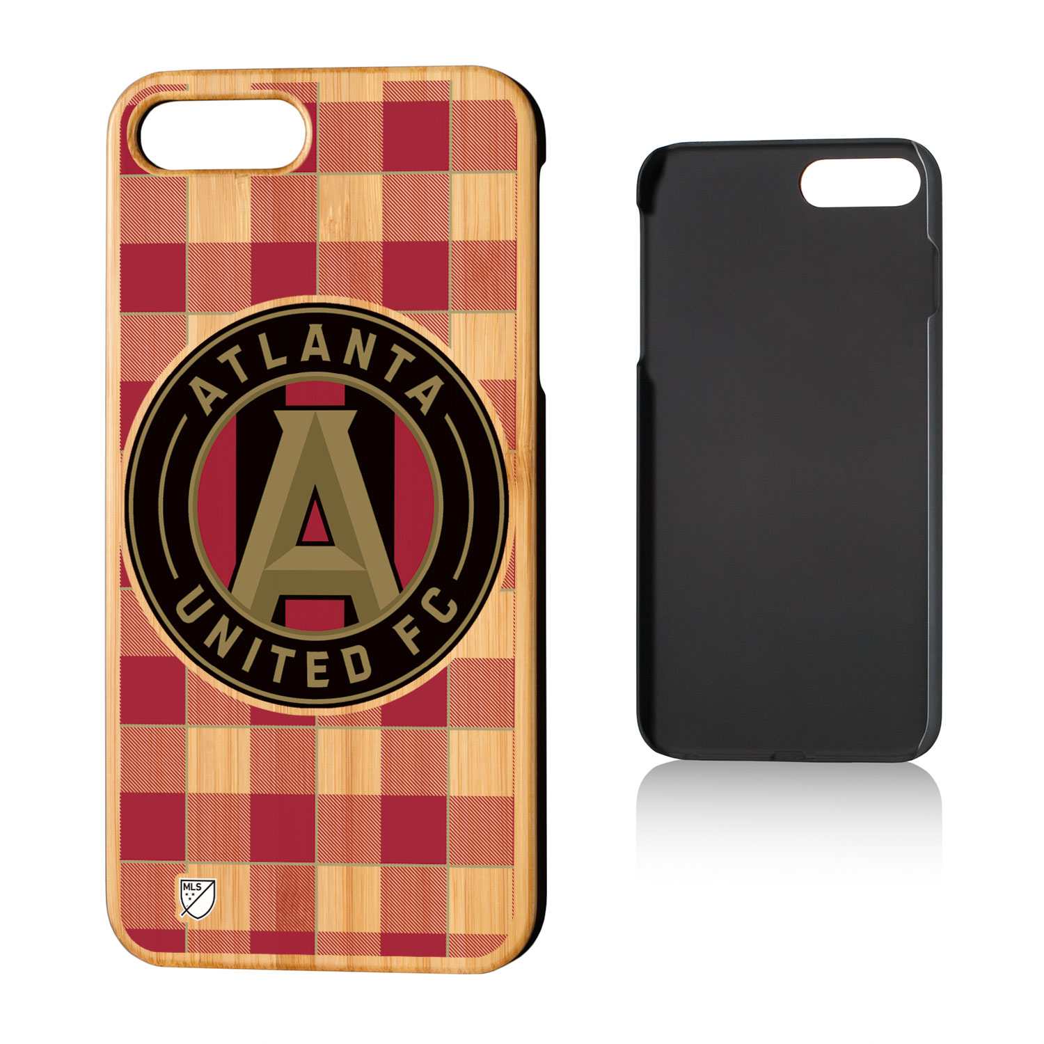 Atlanta United FC ATLUTD Plaid Bamboo Case for iPhone 8 Plus / 7 Plus