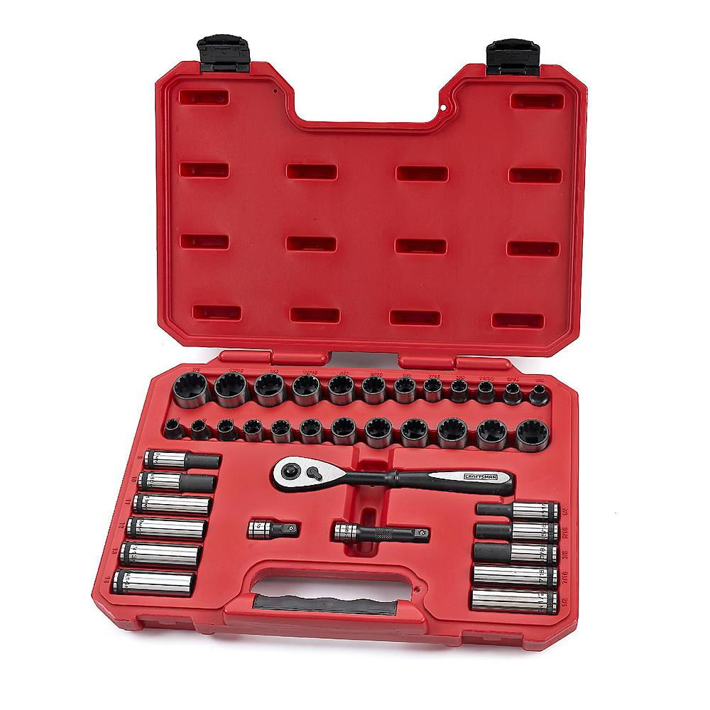Craftsman Universal Socket Wrench 3/8 inch Drive Hand Tool Set 38 pc. 39438