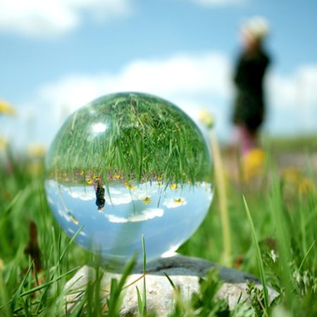 Natural Amethyst Quartz Sphere - Clear Natural Round Quartz Magic Healing Sphere 100mm Clear Glass Crystal Ball