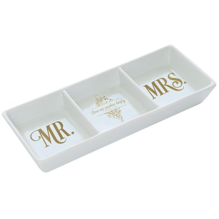 Tray Porcelain Trinket MR and Mrs (Porcelain Oval Tray)