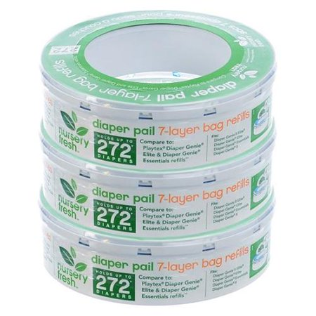 Nursery Fresh Diaper Pail Refill For Diaper Genie 3-Pack