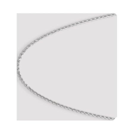 Leslies or blanc 14K 3.00mm Diamond- coupe cha?ne corde - image 3 de 5