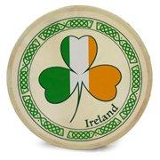 waltons 8 inch tricolour shamrock bodhrn - handcrafted irish instrument - crisp & musical tone - hardwood beater included w/purchase