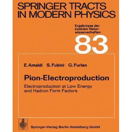 Pion Electroproduction  Electroproduction At Low Energy And Hadron Form Factors