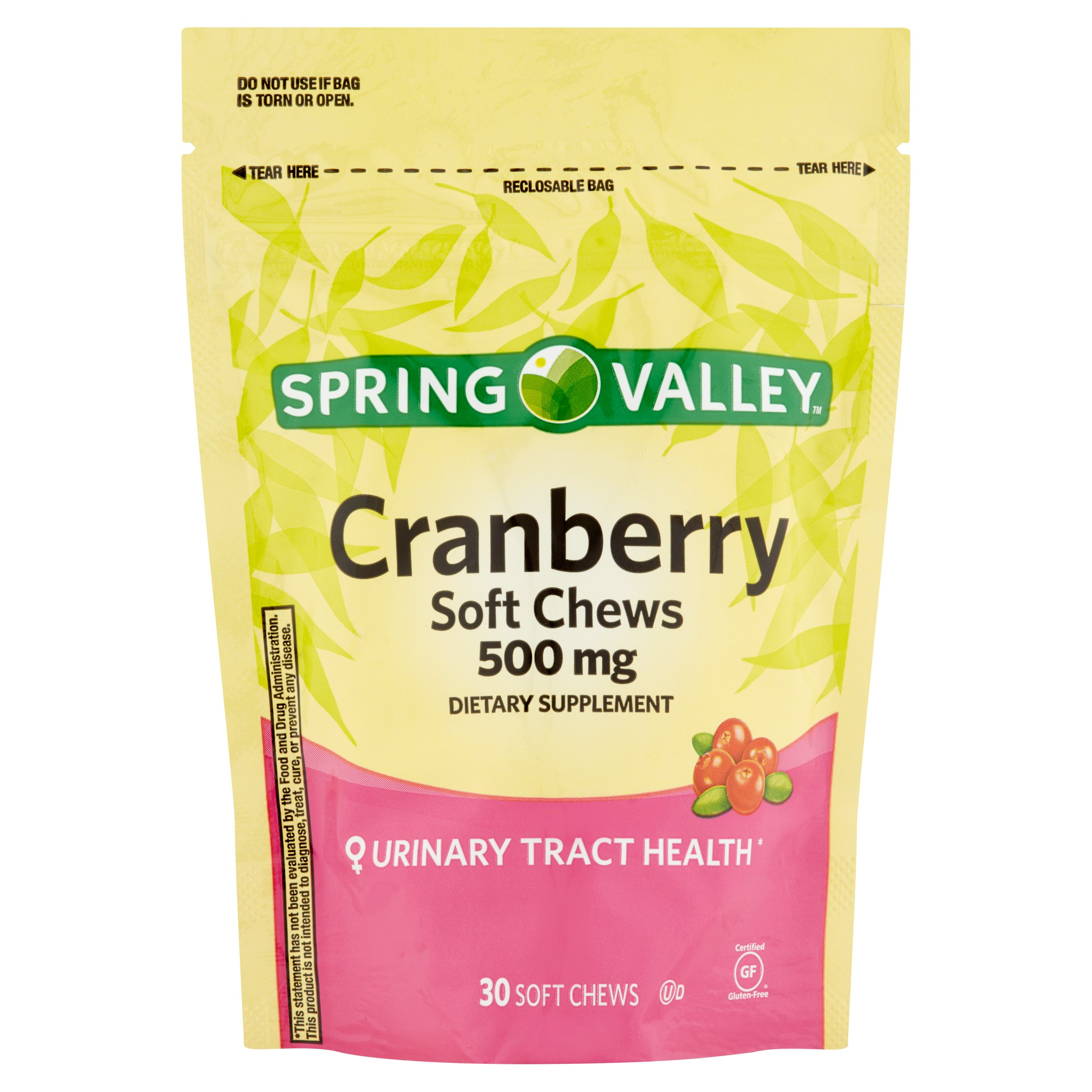 Spring Valley Cranberry Soft Chews, 500 mg, 30 Ct