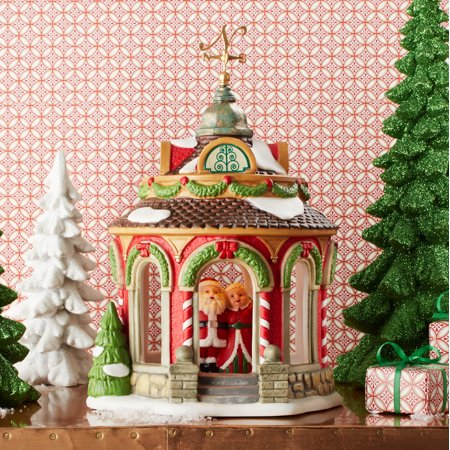 Dept 56 North Pole 40th Anniversary Gazebo 4050966 (Department 56 North Pole Village)