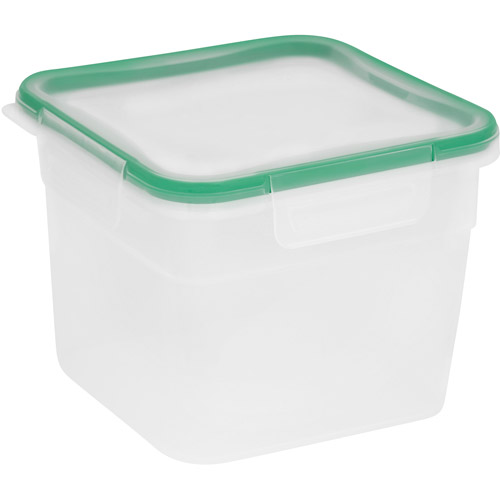 Snapware Total Solution 6 Piece Plastic 10.3 Cup Tall Square Containers,  Clear