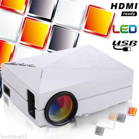 5000 Lumens LED WideScreen Projector, Multimedia Home LED Theater Mini Projector with HDMI,