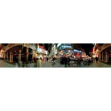 360 degree view of a city at dusk Broadway Manhattan New York City New York State USA Poster Print (New York City Poster Broadway)