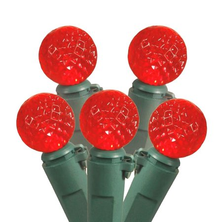 vickerman 176450 12 light red g12 led replacement berry bulb lights christmas light bulb