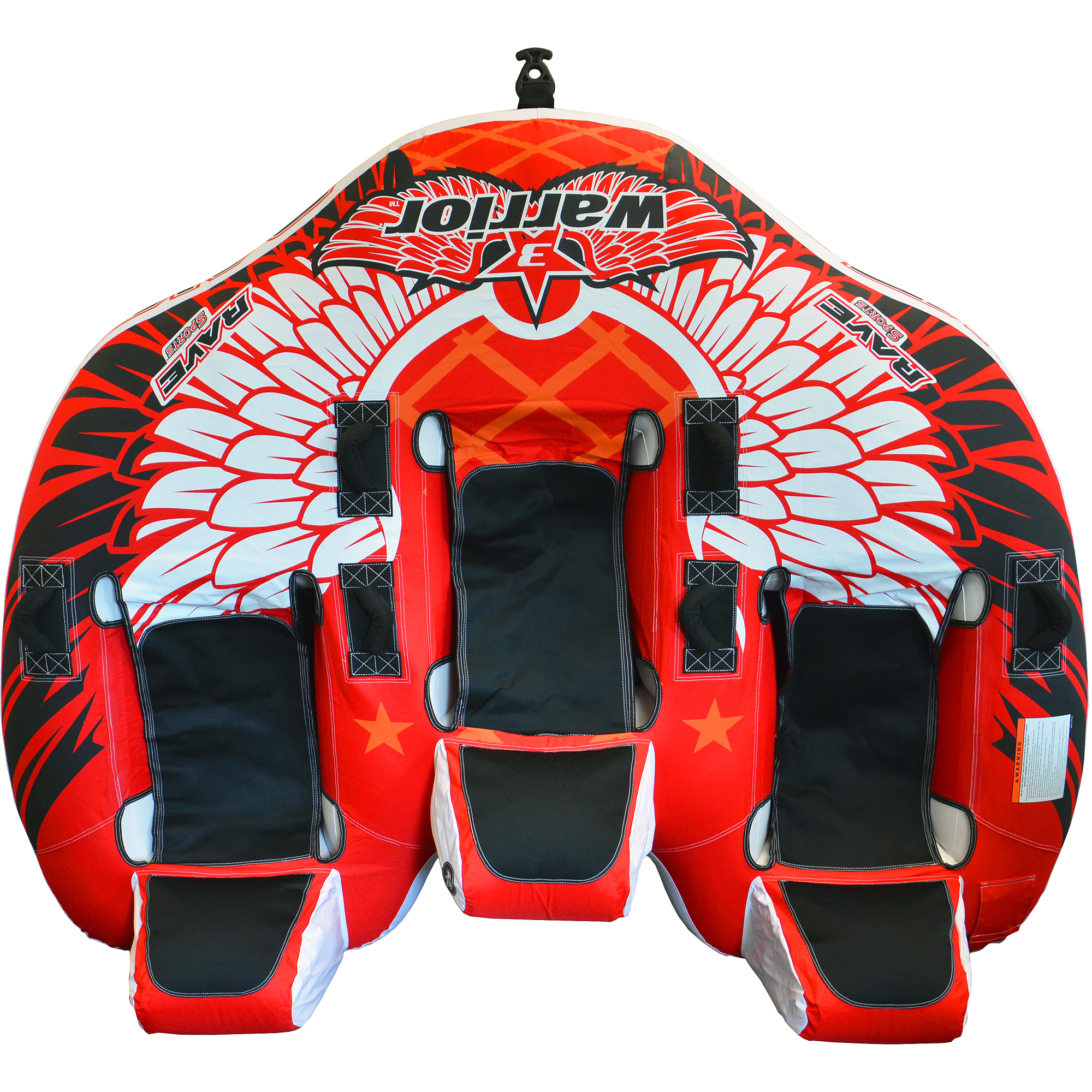 Rave Sports Warrior 3-Rider Sit-On-Top Design Tube