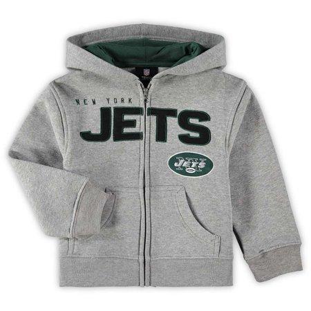 huge discount 2419b 4f0c2 New York Jets Preschool Fan Gear Stated Full-Zip Hoodie - Gray