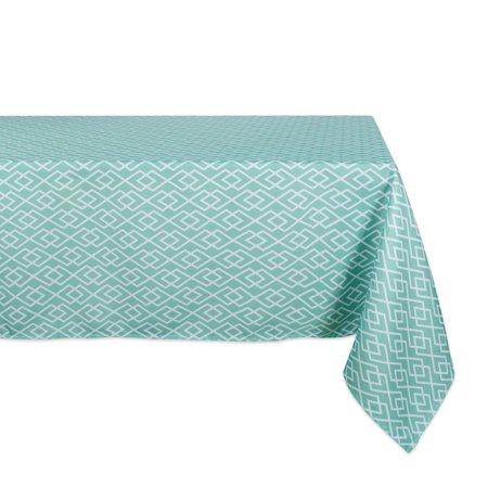 DII Aqua Diamond Outdoor Tablecloth, 60x120