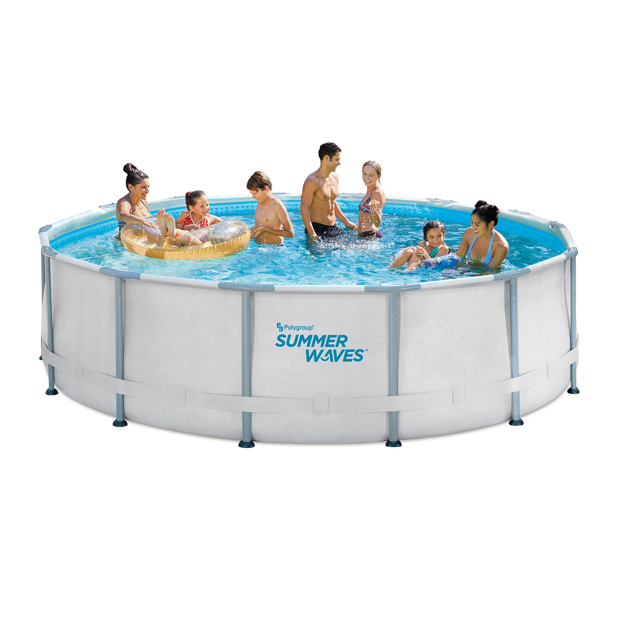 Summer Waves 14ft Elite Frame Pool With Filter Pump Cover And Ladder Walmart Com Walmart Com
