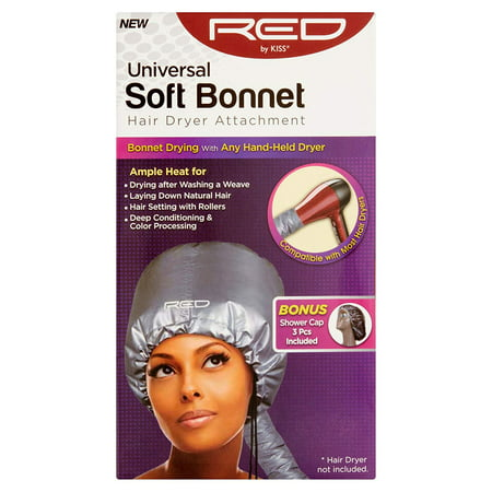 Universal Soft Bonnet Hair Dryer Attachment, Optimized for drying after washing a weave and laying down natural hair By Red Kiss,USA ()