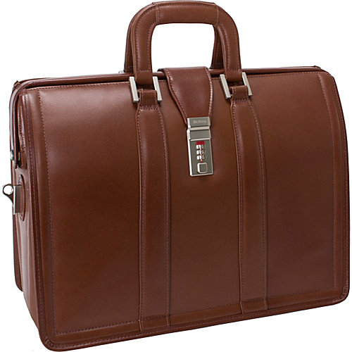 "McKlein USA Morgan Leather 17"" Litigator Laptop Brief"