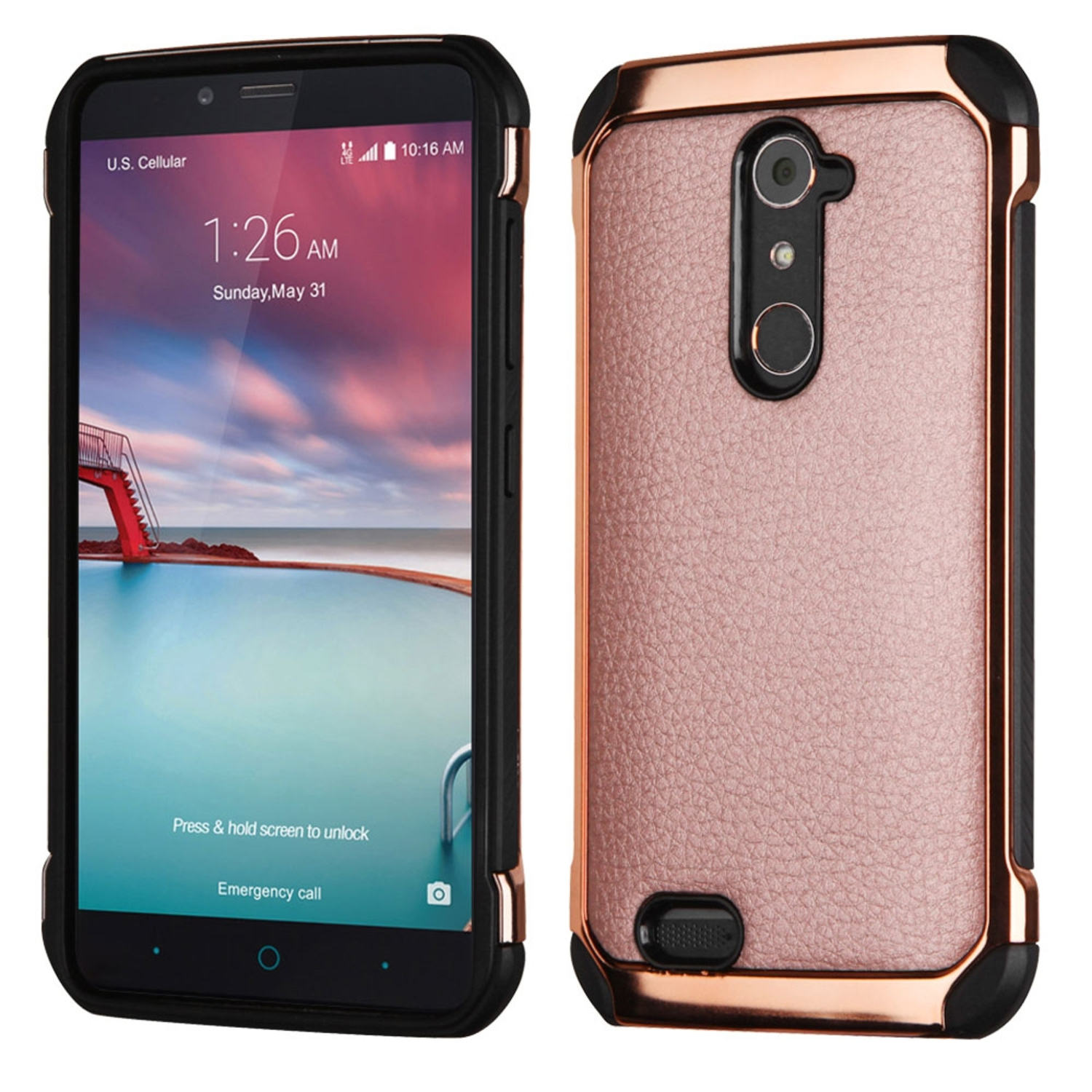lg zte zmax pro. zte zmax pro phone case, by insten leather hybrid fabric tpu case for cover lg zte