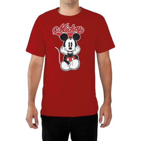Men's Big & Tall Mickey Mouse Varsity T-Shirt -  Red