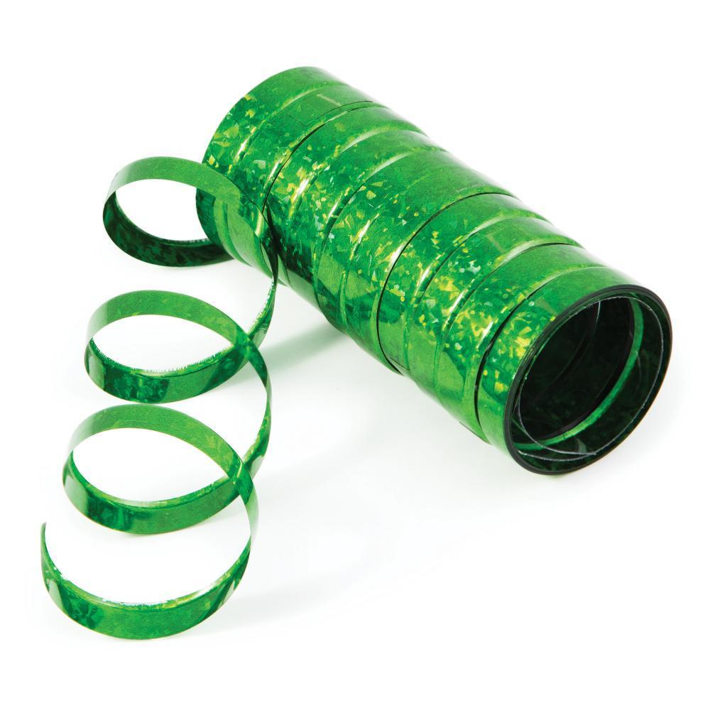 Creative Converting Green Holographic Serpentine Streamer