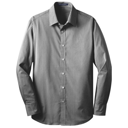 Port Authority Fine Stripe Stretch Poplin Shirt