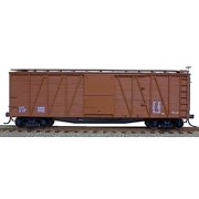 Accurail 4398 Mineral Red 40' Outside Braced Box Car with Metal Ends (Kit)
