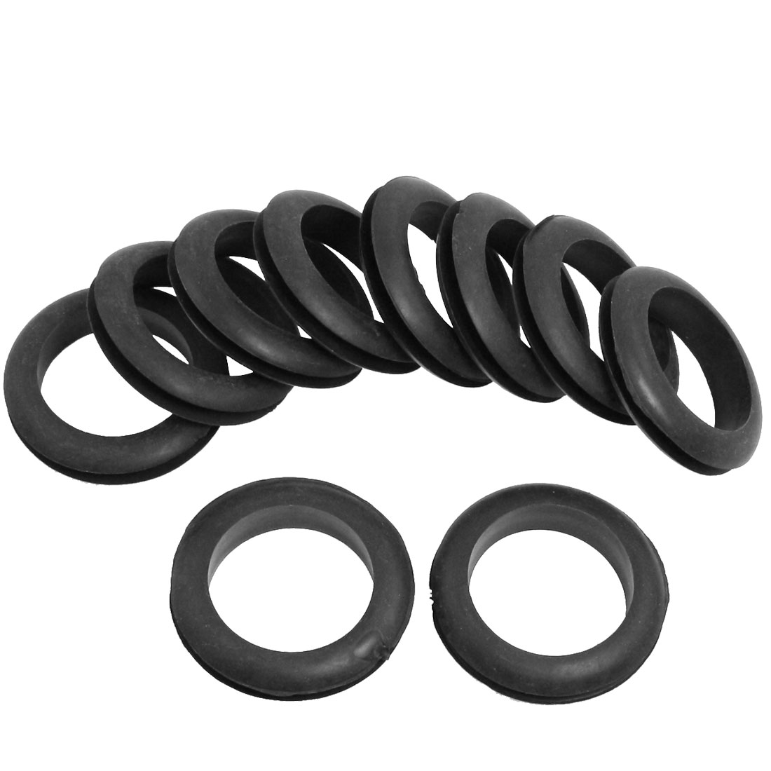 40mm Black Rubber Armature Bar Grommets Wire Protector