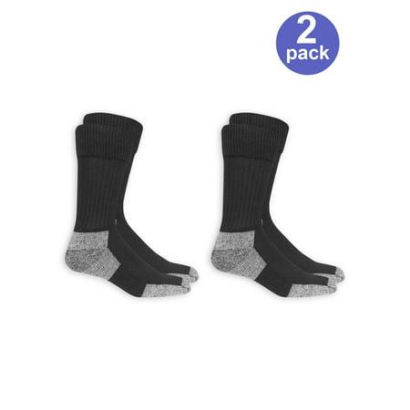 15edc0d24 Dr. Scholl s - Men s Premium Diabetic and Circulatory Crew Socks 2 Pack -  Walmart.com