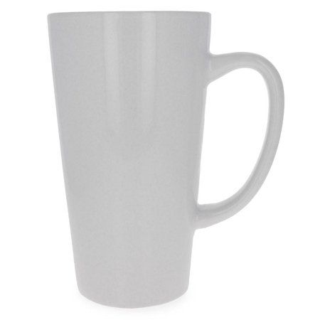 "6"" blank unpainted white diy ceramic dishwasher safe coffee mug"
