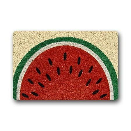 Summer Rub - WinHome Summer Watermelon Doormat Floor Mats Rugs Outdoors/Indoor Doormat Size 23.6x15.7 inches