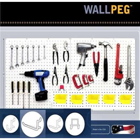 80pcs Pegboard Hooks with Big Plastic Bins - Peg Board Storage System Organizer