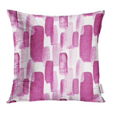 YWOTA Abstract of Stripe Striped Pattern Watercolor Burgundy Pink White Wine Beautiful Pillow Cases Cushion Cover 18x18 inch