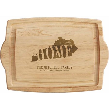Brown Deluxe Board - Personalized Home State Oversized Wood Cutting Board, Original or Oversized