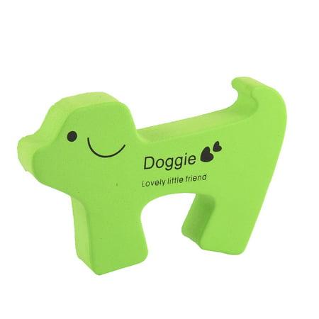 - Cartoon Dog Shape Finger Protector Door Stopper Lock  Guard Green