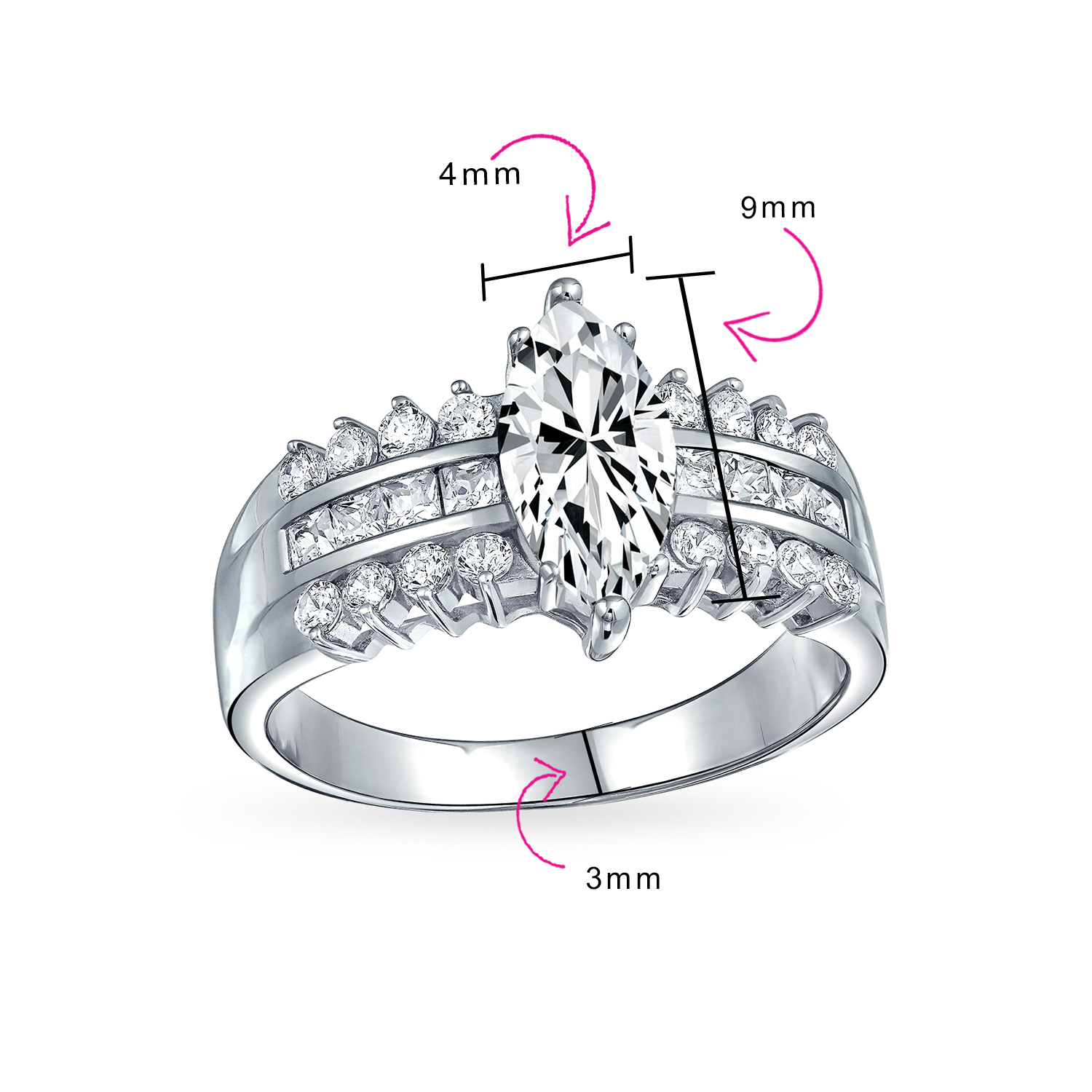3.20 Carat Radiant Brilliant Cut Solitaire Antique Art Deco Engagement Ring In 925 Sterling Silver For Womens Halo Wedding Ring