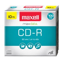Maxell 10-Pack Write-Once CD-R for Music