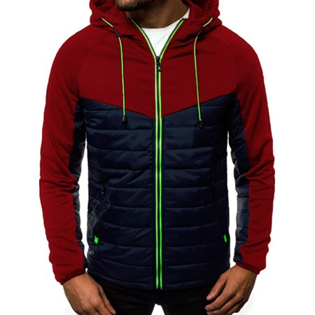 Men's Winter Warm Zip Up Hooded Puffer Quilted Jacket Coat Casual Outwear