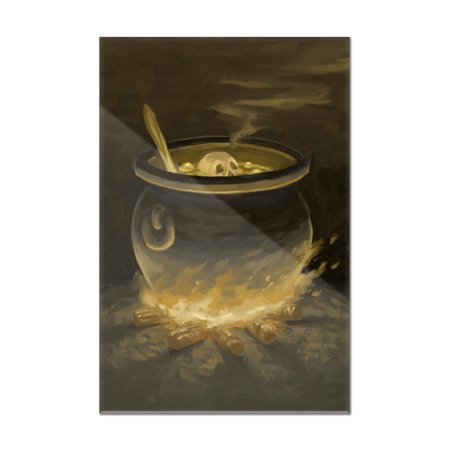 Cauldron - Halloween Oil Painting - Lantern Press Artwork (8x12 Acrylic Wall Art Gallery Quality)