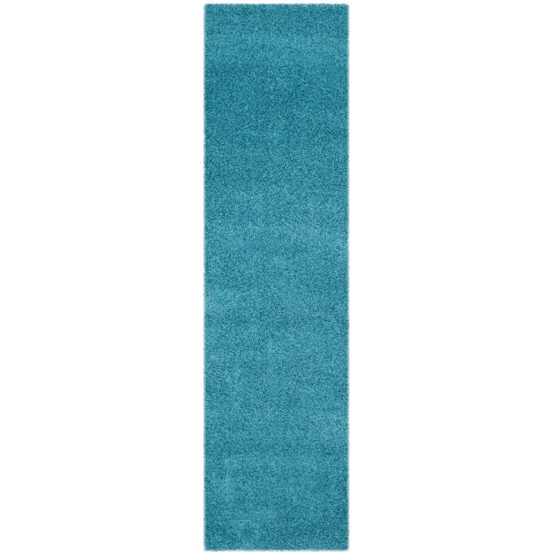 "Safavieh Laguna Shag 6'7"" Square Power Loomed Rug in Turquoise - image 10 of 10"