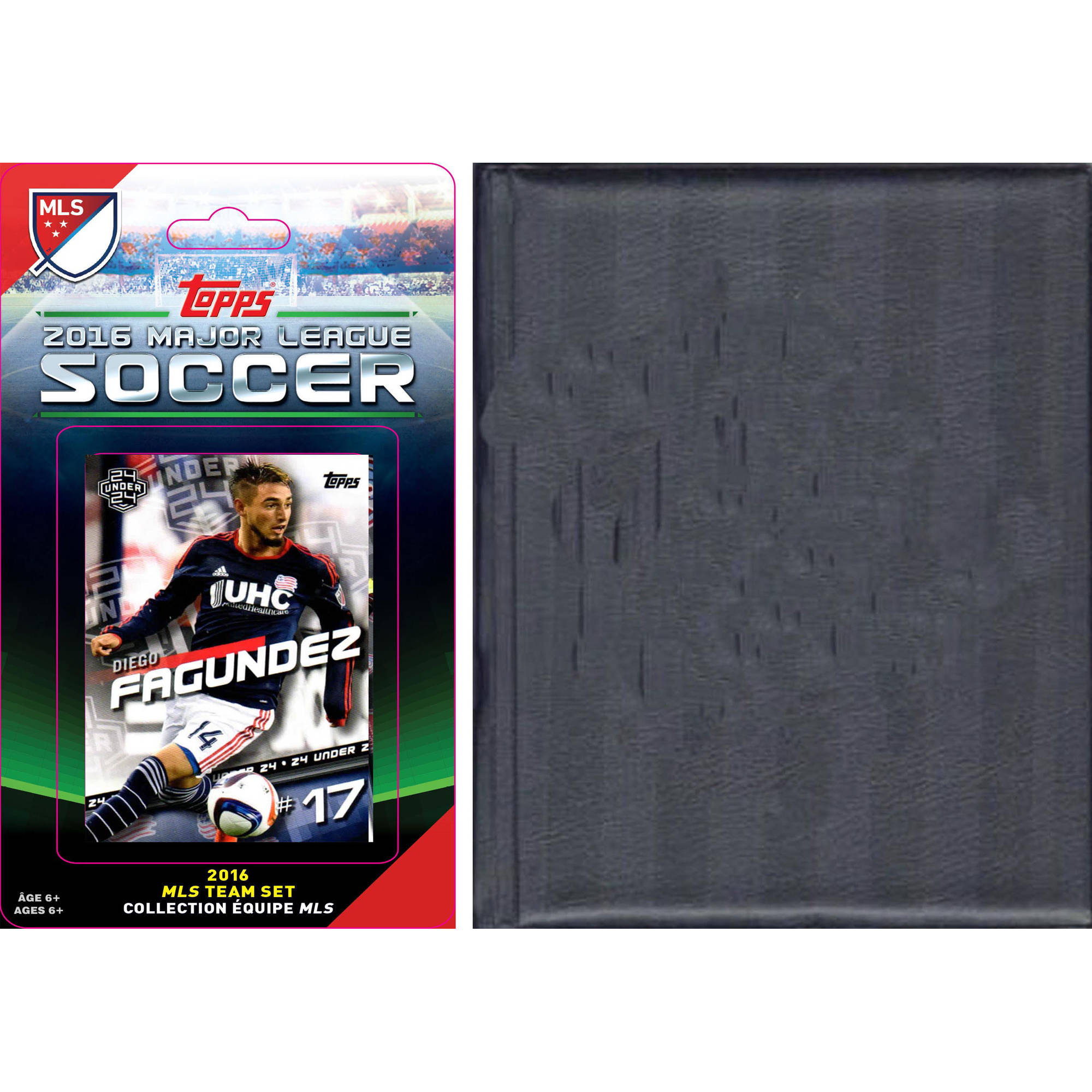 C&I Collectables MLS New England Revolution Licensed 2016 Topps Team Set and Storage Album