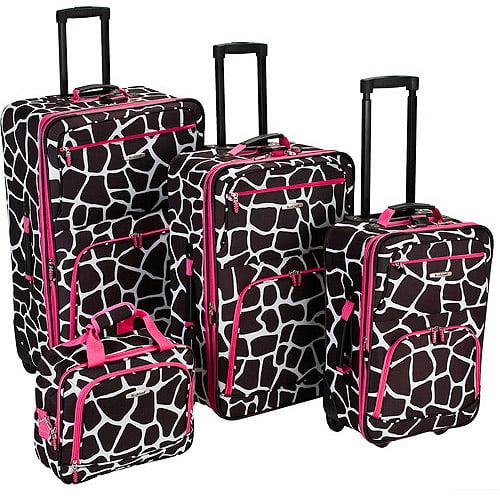 Rockland Luggage Fashion 4 Piece Expandable Luggage Set, Multiple Colors